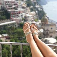 Sandali vista Cupola 🕌 ☀️ 🌊   #nanapositano #fashion #style #stylish #sandals #purolino #modapositano #photooftheday #positanofashion #madeinitaly #beauty #beautiful #instagood #pretty #jewelsandals #handemade #swarovski #sandalicapresi #sandaliswarovski #caprisandals #design #shopping #glam #followback #likeforlike #positano #boutiquepositano #sandaligioiello #sandali