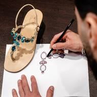 From sketch to sparkly sensation. Discover how the TRINITY jeweled sandals takes its spectacular form.  #nanapositano   #handcrafted#sketch#handmade#fashion#design#style#moda#italy#positano#amalficoast