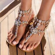 Cavigliera Cameron in colore Crystal e Paradise shine ✨    Cosa ne pensate ? 😍  #sandali#design#moda#fashion#style#positano#capri#italy#custom#handmade#madeinitaly