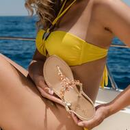 The vibrancy of the sea, at your feet 🌟   Discover more on  WWW.NANAPOSITANO.IT   #sea#star#summervibes#style#fashion#starfish#italy#madeinitaly#positano#amalficoast